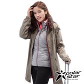 PolarStar 女 二件式防風羽絨外套『卡其』P18236 戶外 休閒 登山 露營 保暖 禦寒 防風 連帽