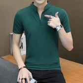 男士短袖t恤韓版潮流POLO衫衣服上衣 聖誕裝飾8折