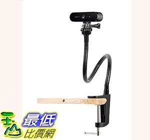 25 inch Flexible Desktop Jaw Long Arm Clamp Clip Mount Holder for Logitech Brio 4K C925e,C922x