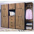 【森可家居】科隆2.5尺四門衣櫥 7HY...