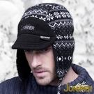 防風滑雪帽子-防水雙面可戴刷毛搖粒絨禦寒防寒套頭護耳滑雪冬帽J3649 JUNIPER