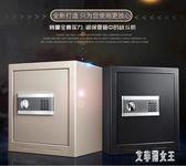 保險柜家用小型 辦公全鋼 電子密碼鎖保險箱45cm文件柜保管箱 WE1495【艾菲爾女王】