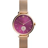 【台南 時代鐘錶 FOSSIL】ES4843 知性優雅 Kalya 三針晶鑽女錶 米蘭錶帶 36mm 公司貨開發票