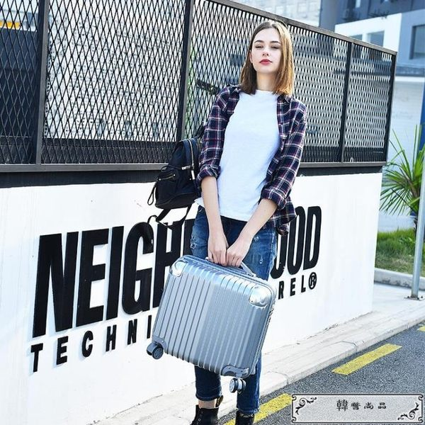 18吋行李箱  迷你登機箱行李箱包女士輕便小型旅行箱子拉桿箱男韓版