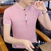 polo衫 2020新款男士短袖T恤棉質POLO衫夏季潮流男裝半袖有帶領衣服 4色