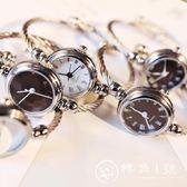 手錶 手表手鐲式女開口中學生正韓簡約創意學院風潮流女生鏈條