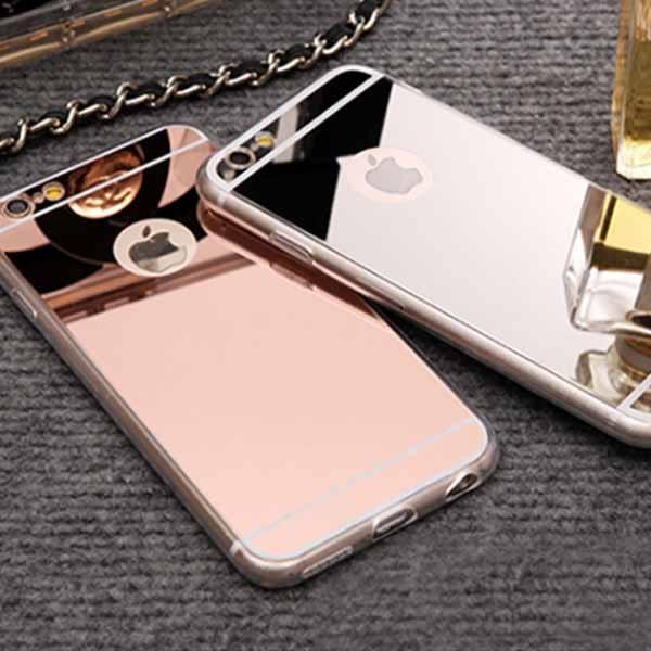 [商城最低] 電鍍 鏡面 玫瑰金 手機殼 手機保護殼 蘋果 6s iPhone 7/8 4.7 / plus s6 edge note5 i6 Plus