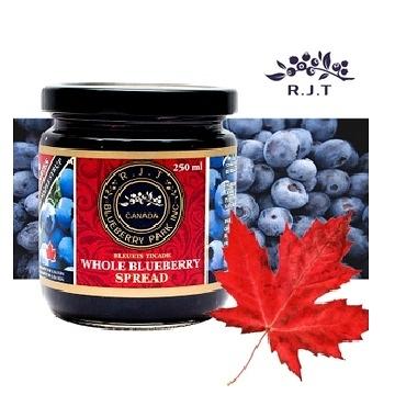 【南紡購物中心】【R.J.T】加拿大天然楓糖藍莓果醬250ml
