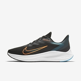 Nike Air Zoom Winflo 7 [CJ0291-013] 男鞋 運動 休閒 慢跑 健身 避震 透氣 黑 橘