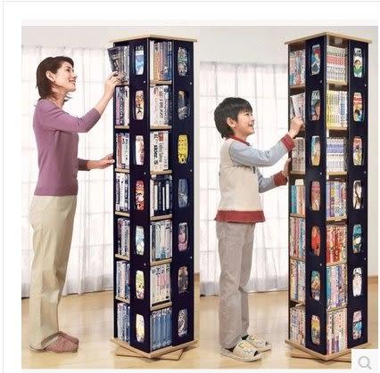 旋轉書架簡易學生小書架兒童創意書櫃書架落地置物架特價CD架