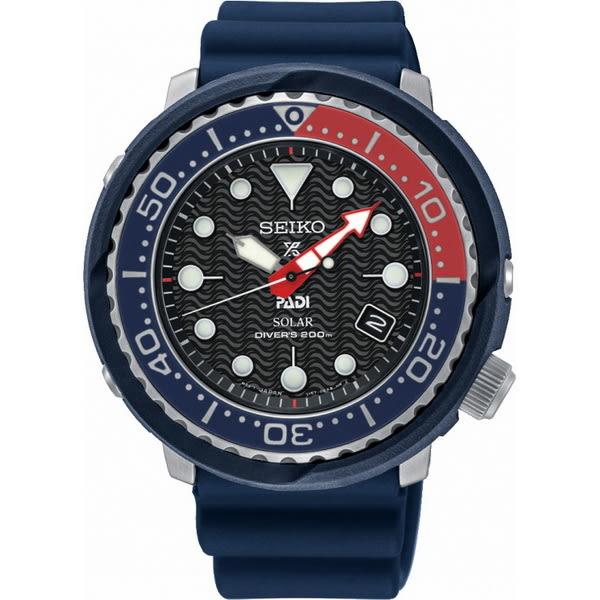 【台南 時代鐘錶 SEIKO】精工 Prospex 太陽能專業潛水錶 PADI聯名款 SNE499P1@V157-0CX0B