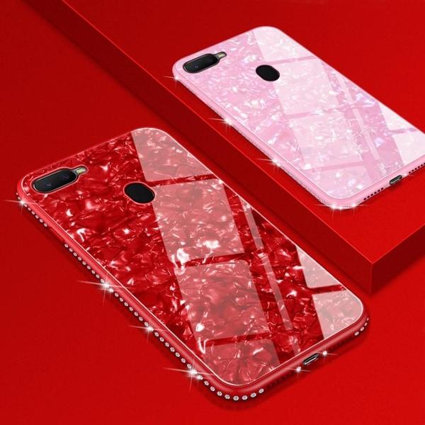 oppoa7x手機殼套全包防摔ax7個性創意新品仙女貝殼0PP0玻璃磨砂潮軟殼 限時85折