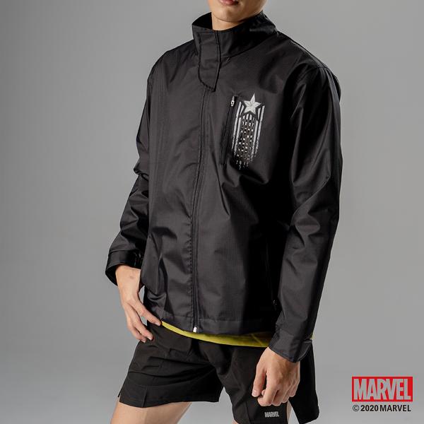 MARVEL漫威運動服飾 星星設計 防風運動外套 雙層內裡 運動機能外套 [M19110501]
