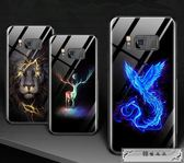 手機殼 三星s8手機殼夜光玻璃s8 手機套全包防摔s8plus保護套個性創意外殼潮男款硬殼網紅