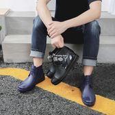雨鞋 雨鞋男防水鞋套低筒短筒雨靴時尚防滑加厚耐磨成人廚房工作鞋 俏腳丫