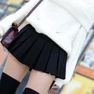 百摺裙 超短裙彈力褲裙迷你熱舞短裙女黑色a字半身裙百褶裙防走光秋裝