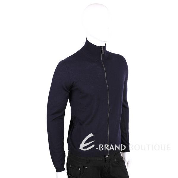 PRADA 深藍色羊毛針織外套(男款) 1510629-34