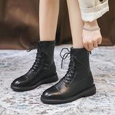 馬丁靴女年新款秋鞋網紅顯腳小英倫風百搭瘦瘦靴子冬加絨短靴 雙十二全館免運