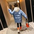 女童外套 冬裝2020新款兒童加厚中大童中長款韓版棉襖羽絨棉服批發【新年禮物】
