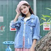 女牛仔外套 韓版顯瘦夾克bf風牛仔上衣 SDN-1586