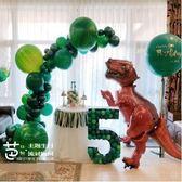 男孩寶生日布置套餐恐龍霸王龍主題站立散步氣球酒店包廂家里裝飾 NMS小明同學