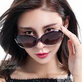 新款女士偏光太陽鏡大框圓臉優雅潮墨鏡時尚長臉2018開車眼鏡『潮流世家』