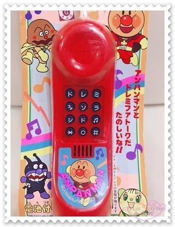 ♥小花花日本精品♥ 麵包超人 電話 音樂電話 音樂鈴 兒童玩具 安全玩具 紅色 日本限定 50104802