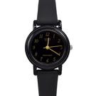 CASIO手錶 小圓黑金數字矽膠錶NECA2