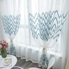 北歐現代紗簾成品繡花歐式窗紗客廳臥室飄窗...