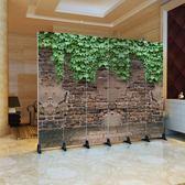 可訂製屏風辦公室隔斷玄關客廳折疊移動復古180cm*40cm YXS   潮流前線