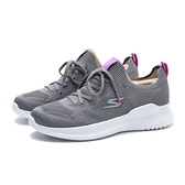SKECHERS 慢跑鞋 GO RUN MOJO 2.0 灰白 襪套 Q彈 可機洗 女(布魯克林) 128145CCLV