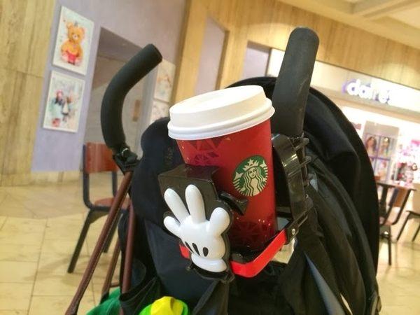 阿卡醬 日本迪士尼 baby 手推車/娃娃車專用 飲料架/置杯架 米妮款 該該貝比日本精品 ☆