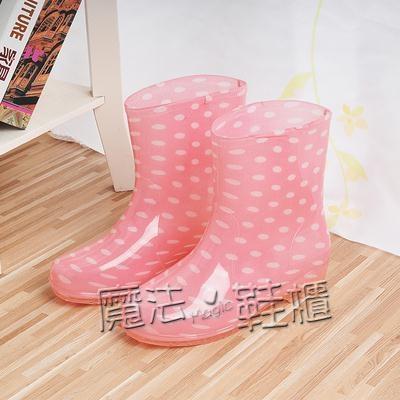 夏季時尚短筒果凍雨鞋女 韓國潮女夏天中筒成人防滑兩用水鞋水靴 喜迎新春