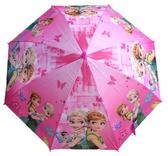 【卡漫城】 冰雪奇緣 童傘 桃紅 城堡 兒童 雨傘 Frozen Elsa 艾莎 安娜 Anna 雪寶 自動 直立傘