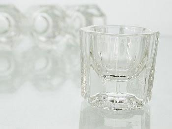 無蓋玻璃溶劑杯(一組兩個) 水晶指甲 凝膠指甲 透明玻璃 專用溶劑杯 【甜心美甲材料批發網】zg11