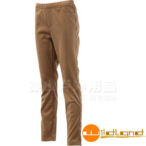 Wildland 荒野 0A12363-63深卡其 女 彈性針織合身長褲