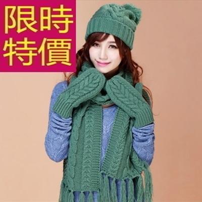 圍巾+毛帽+手套羊毛三件套-魅力氣質溫暖正韓女配件2色63n31【巴黎精品】