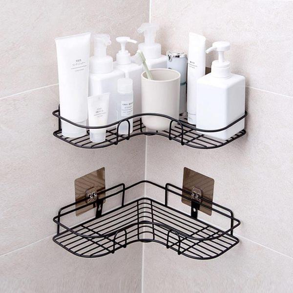 新年大促免打孔轉角置物架衛生間洗漱架 浴室無痕壁掛三角架收納架 森活雜貨