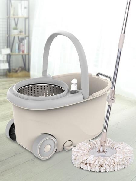 索邦拖把桶旋轉拖把免手洗家用雙驅動懶人自動擠水幹濕兩用拖布桶 樂活生活館