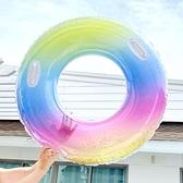 火烈鳥充氣網紅救生圈游泳圈成人加厚大人男女泳泳圈兒童大號專業 阿卡娜