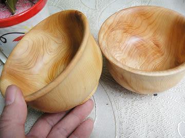 崖柏木飯碗木雕