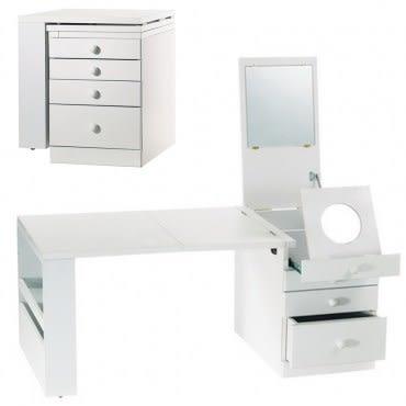 《C&B》第二代折疊和室掀鏡化妝書桌-白色