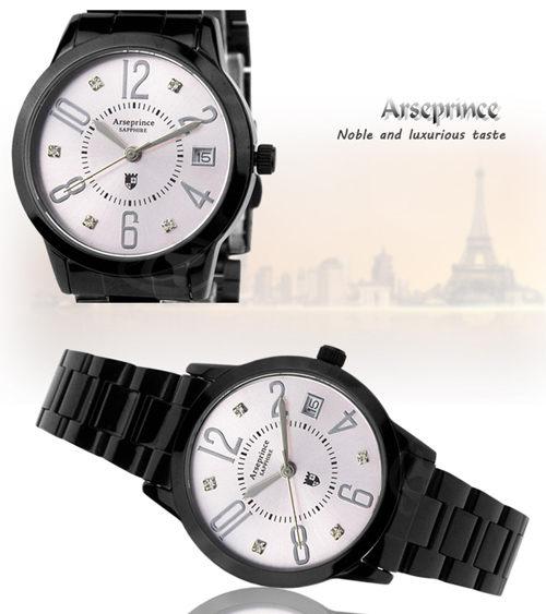 【Arseprince】時尚新魅力晶鑽女錶-粉色