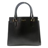 Dior 迪奧 21st 黑色小羊皮手提肩背兩用包 【二手名牌 BRAND OFF】