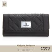 Kinloch Anderson 金安德森 皮夾 英國女爵 單面扣雙層女夾 黑色 KA156102 得意時袋