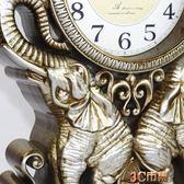 歐式復古座鐘台鐘客廳美式大號台式鐘表擺鐘桌面創意坐鐘時鐘擺件 MKS免運