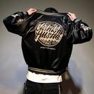 飛行外套情侶潮牌hiphop外套男春秋棒球外套正韓學生潮流嘻哈寬鬆飛行員夾克