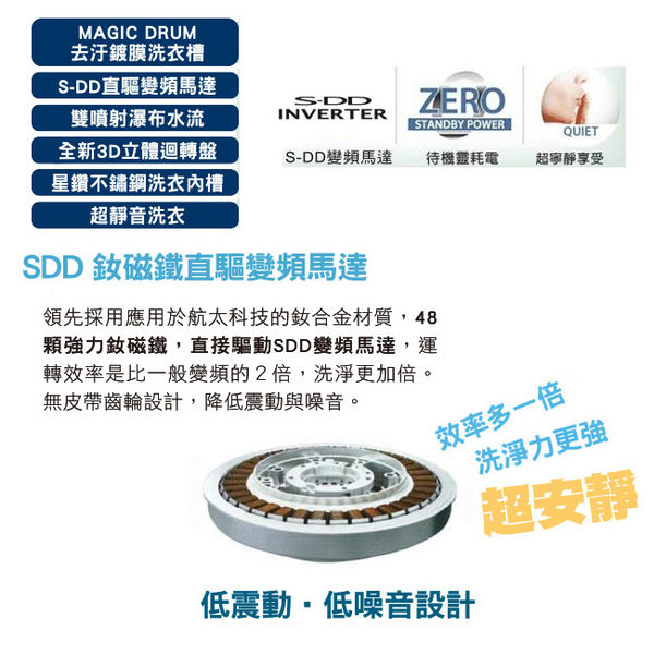 TOSHIBA東芝SDD變頻12公斤洗衣機 (AW-DME1200GG)(金耀黑)免樓層費/免安裝費/免運費