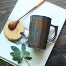 日式個性鎏金釉陶瓷馬克杯辦公室水杯咖啡杯...