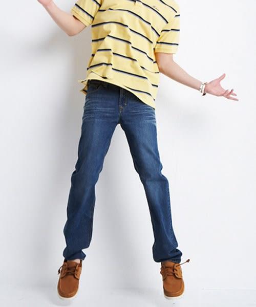 【BOBSON】男款衣絲不罣涼爽直筒牛仔褲(藍53)